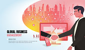 global business to success helping business team ver2
