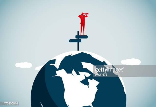 global business - turning stock illustrations