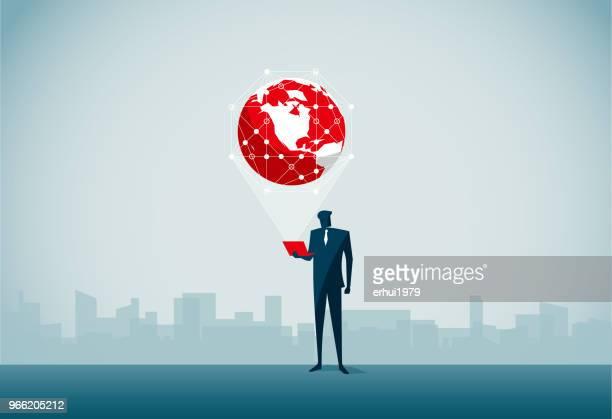 global business - big data stock illustrations
