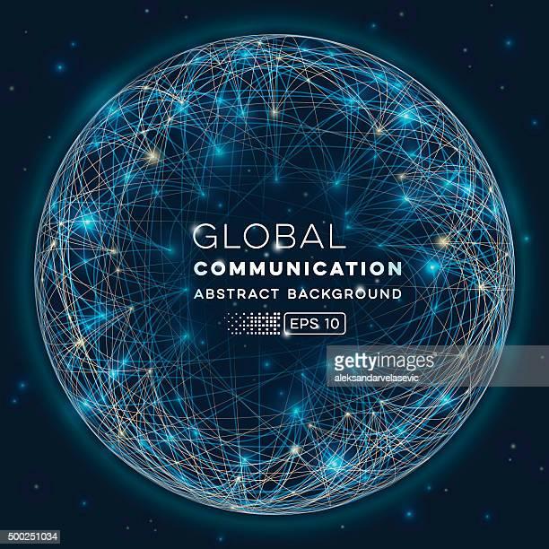 Sfondo astratto di comunicazione globale
