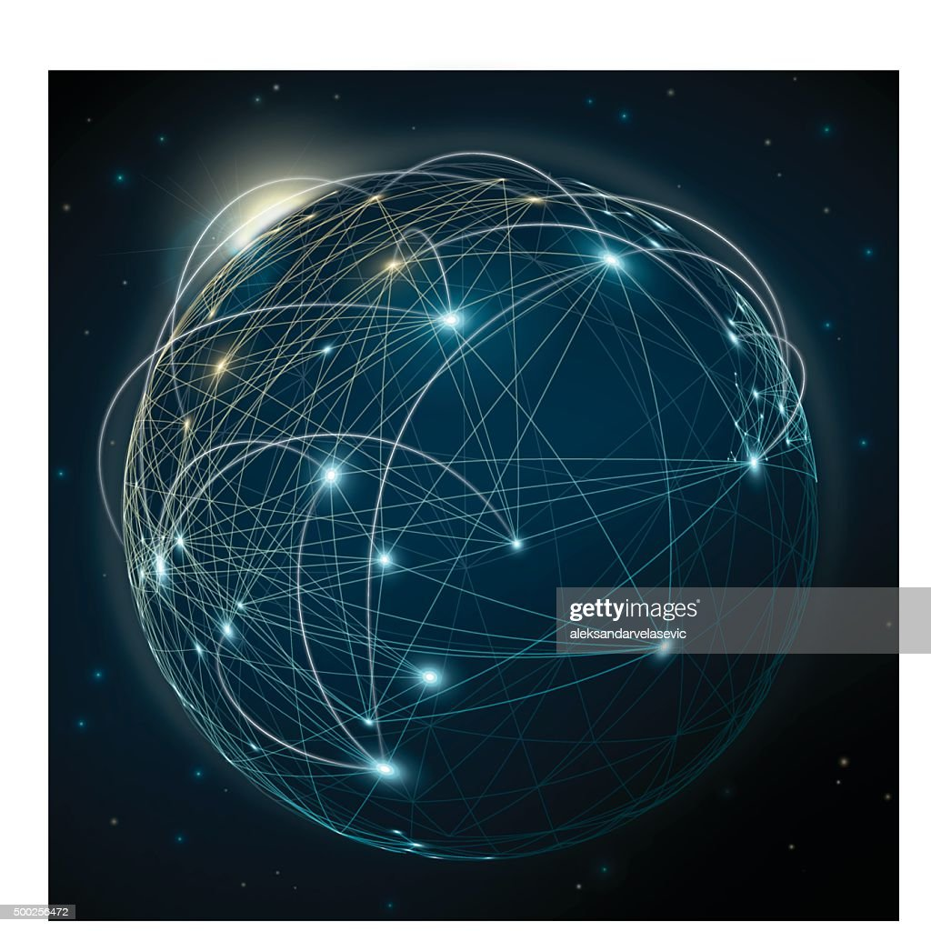 Global Communication Abstract Background