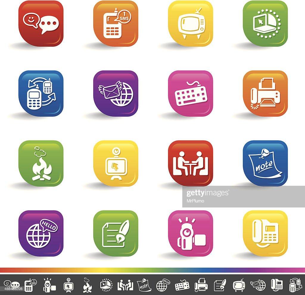 Global communication icons   Rainbow Series
