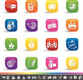 Global communication icons | Rainbow Series