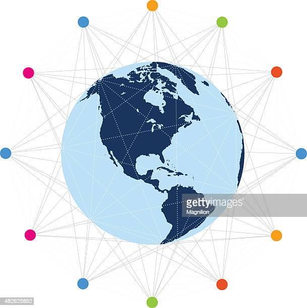ilustrações, clipart, desenhos animados e ícones de comunicação global - www