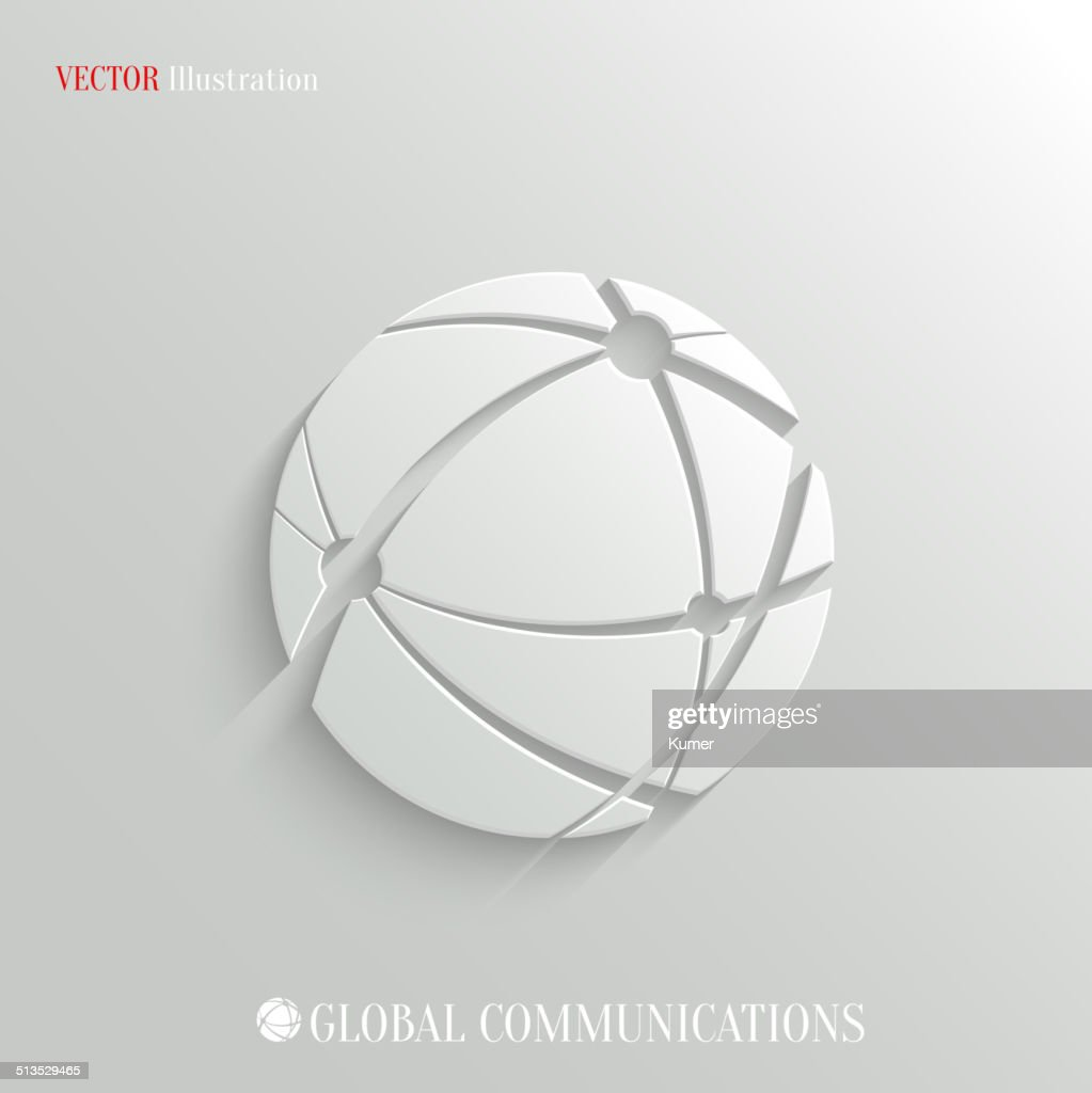 Global communications icon - vector web background