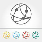 Global Communications Single Icon Vector Illustration