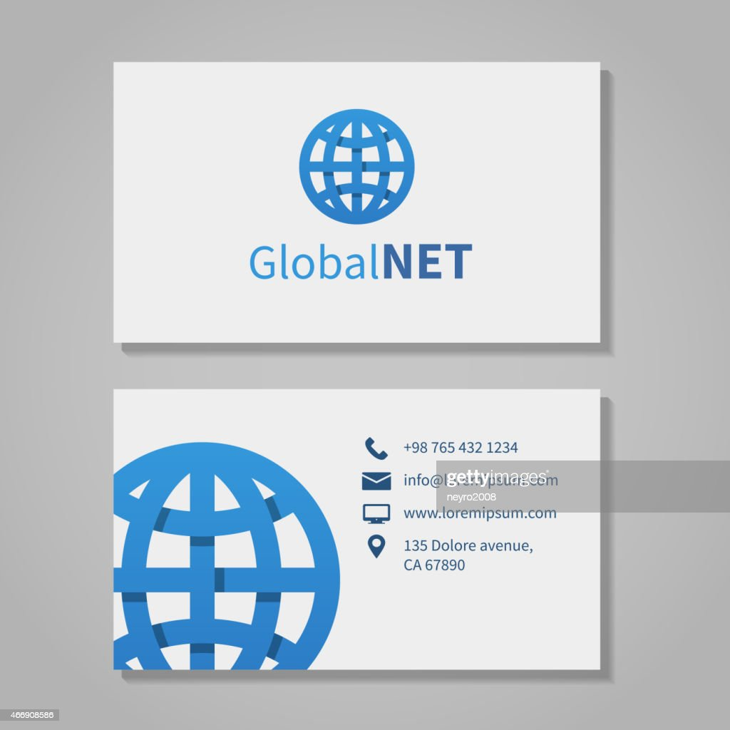 Global corporation business card