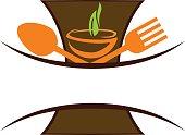 Global Culinary Emblem Template Blank