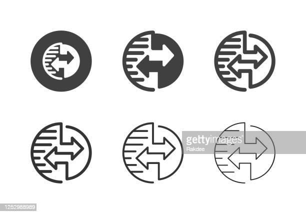 グローバルデータ転送アイコン - マルチシリーズ - イメージ転送点のイラスト素材/クリップアート素材/マンガ素材/アイコン素材