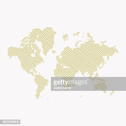 Global digital communications abstract world map flat vector global digital communications abstract world map flat vector illustration eps 10 vector art getty images gumiabroncs Images