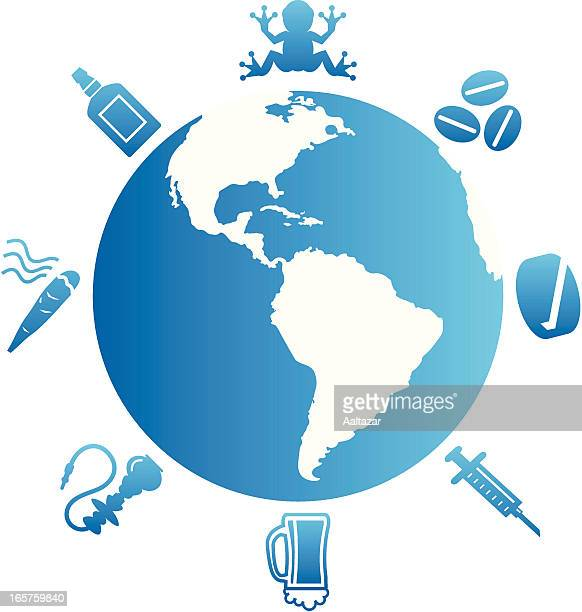global drug addiction - crack pipe stock illustrations