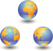 Global Earth vector icons