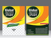 global institute flyer template & magazine