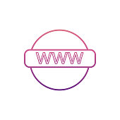 global interneticon in Nolan style. One of web collection icon can be used for UI, UX