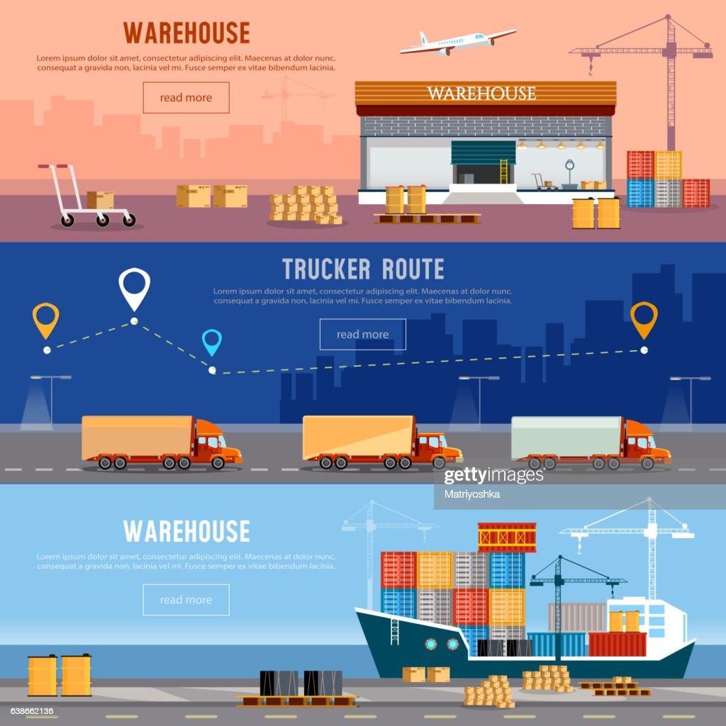 Global logistics. Cargo transportation