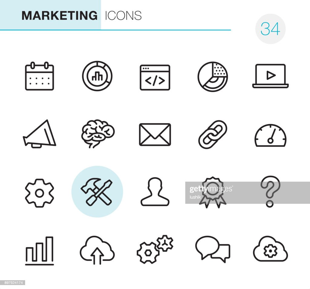 Global Marketing - Pixel Perfect icons
