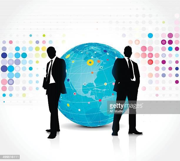 Globales Netzwerk Business