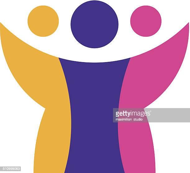 Global solution citizen reach logo icon