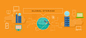 Global Storage Design Flat Concept