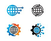 Global Technology Symbol Template Design Vector, Emblem, Design Concept, Creative Symbol, Icon