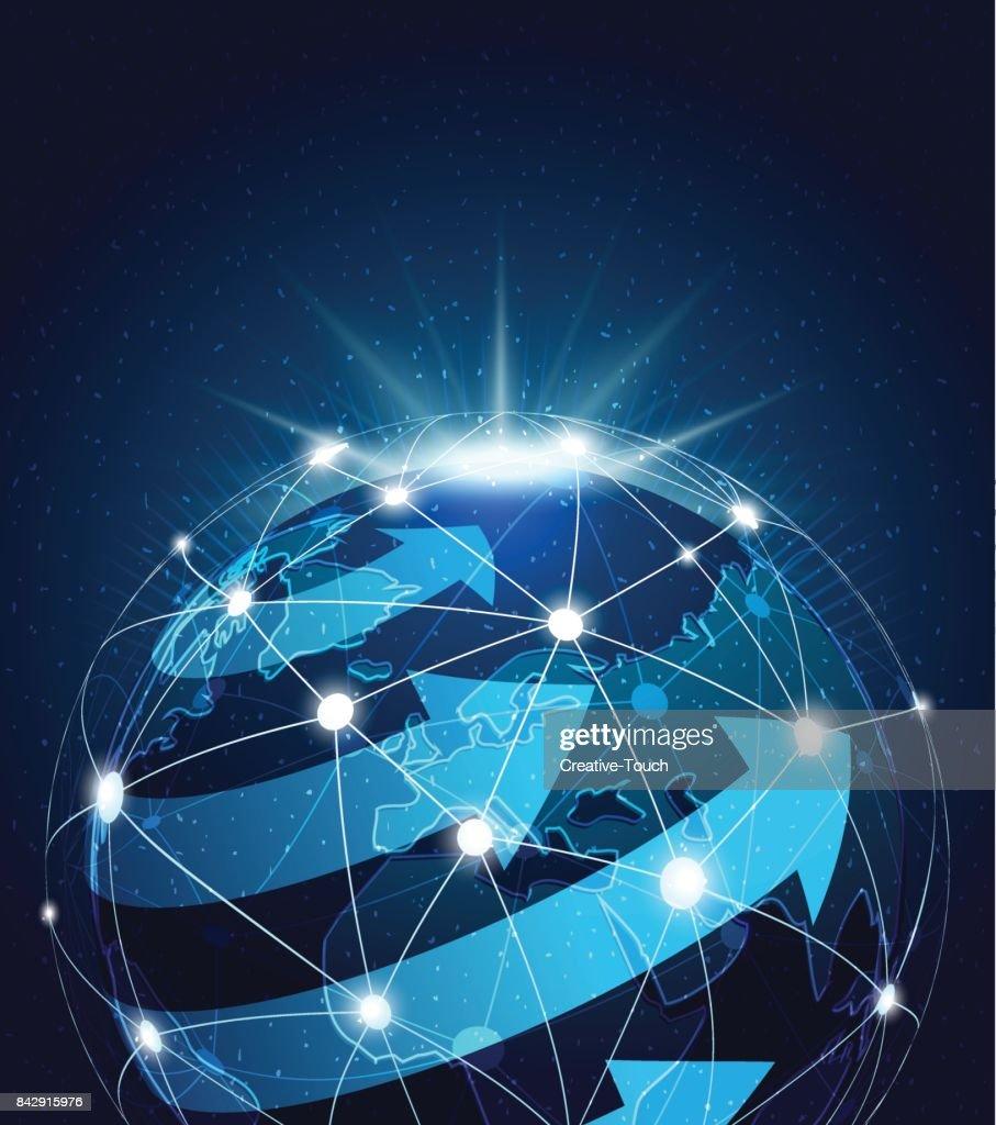 Global transporting : stock illustration