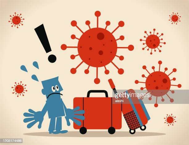 global travel opens new roads for outbreaks, spread of coronavirus and the flu, people who are not showing symptoms can still be carrying the virus - avian flu virus stock illustrations