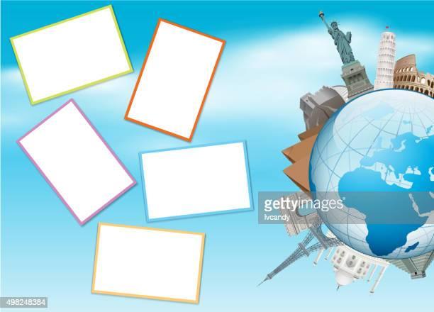 global travel photos - easter island stock illustrations, clip art, cartoons, & icons