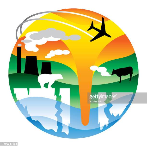 Global Warming and Climate Change Icon