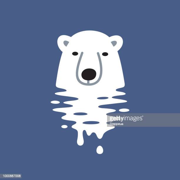 global warming design - ice floe stock illustrations