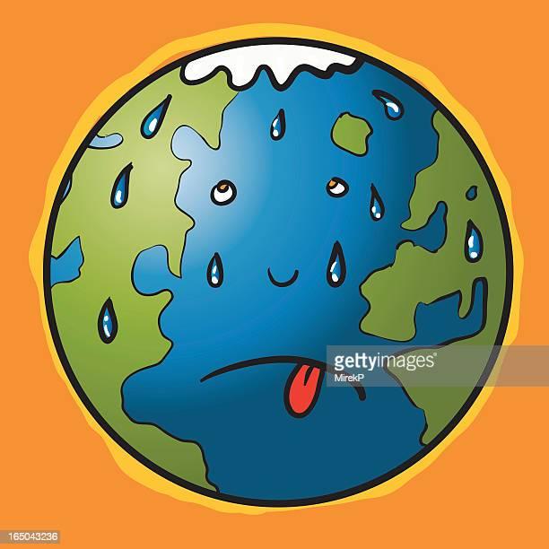Globale Erwärmung sweat