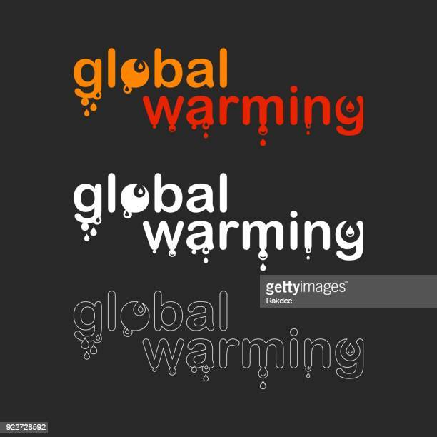 global warming - typography series - dissolving stock illustrations, clip art, cartoons, & icons