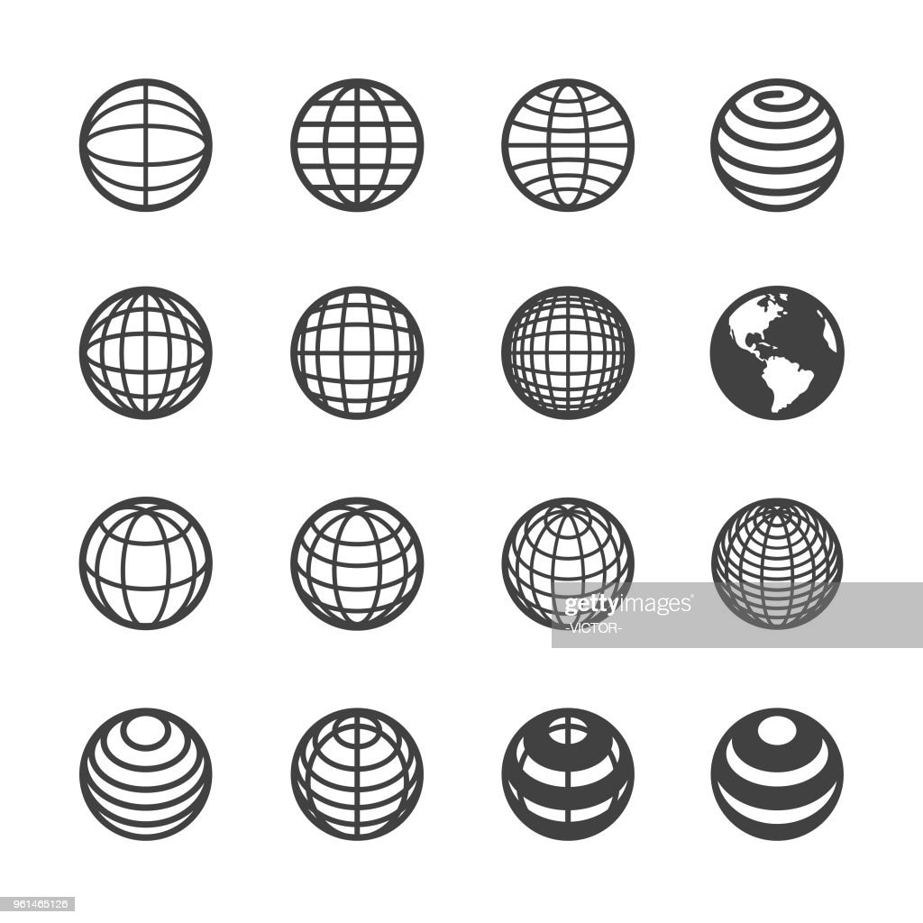 Globe and Communication Icon - Acme Series : stock illustration