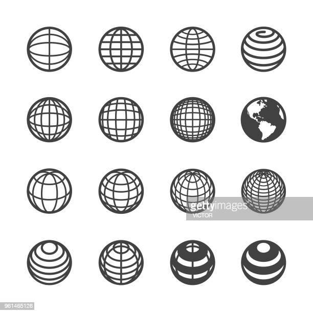 Globe en communicatie Icon - serie van Acme