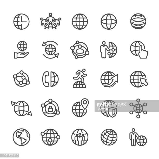 Globe and Communication Icon - Smart Line Series