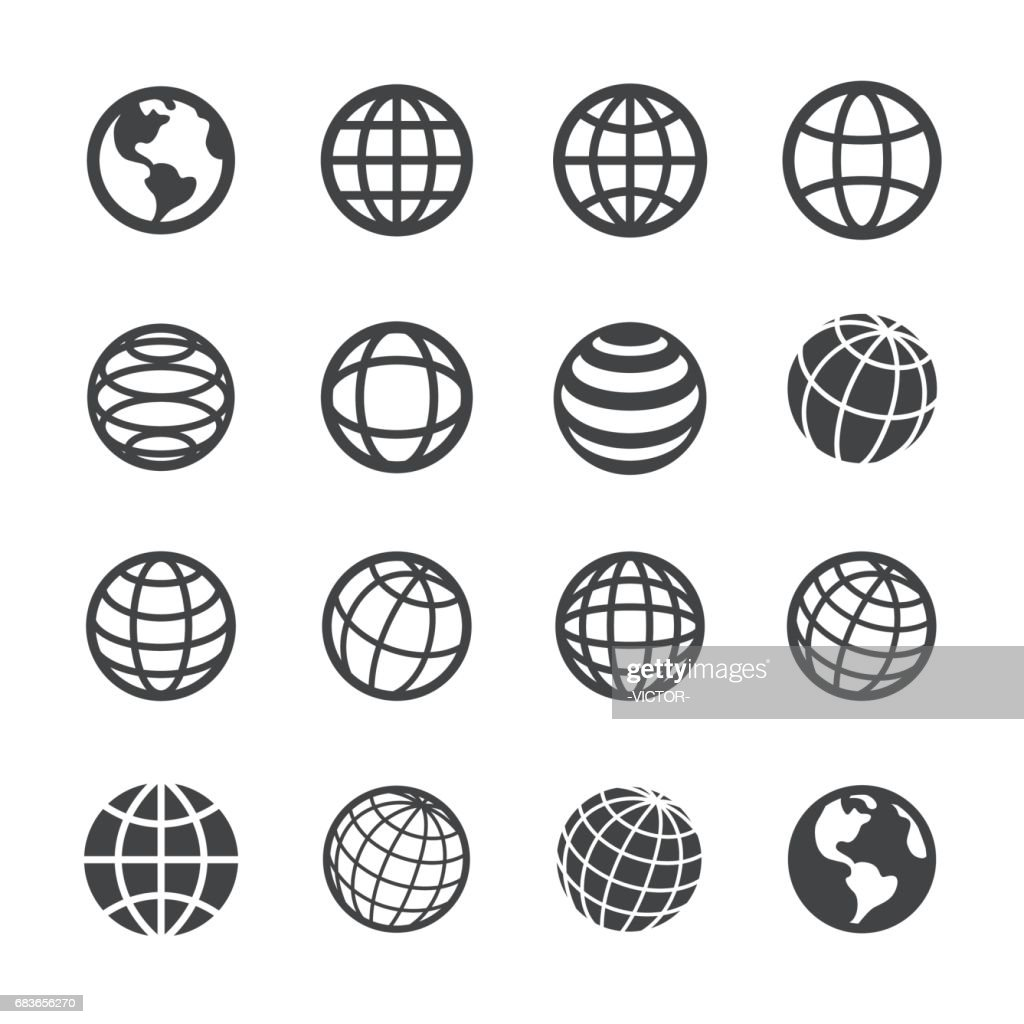 Globe and Communication Icons - Acme Series