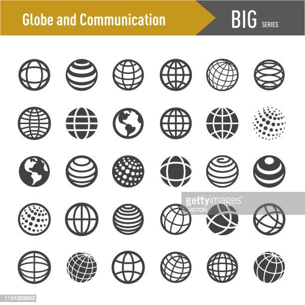Globe and Communication Icons-Big Series