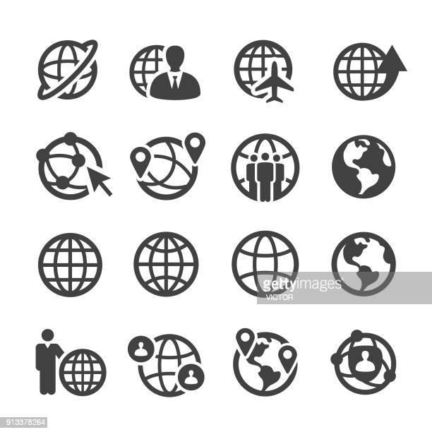 Globe and Communication Icons Set - Acme Series