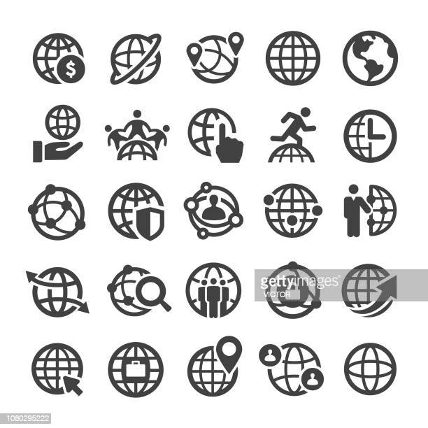 Globe and Communication Icons Set - Smart Series