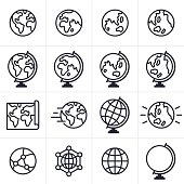 Globe and Earth Icons and Symbols