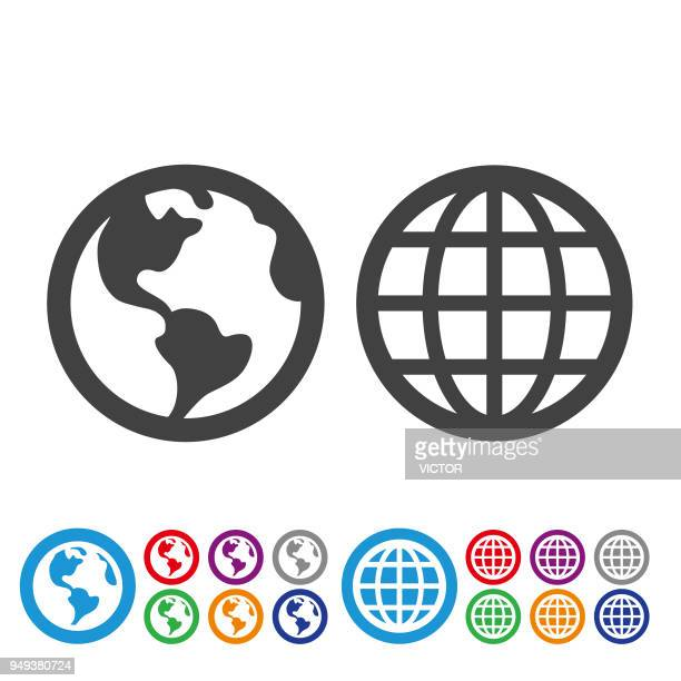 Globe and Earth Icons - Graphic Icon Series