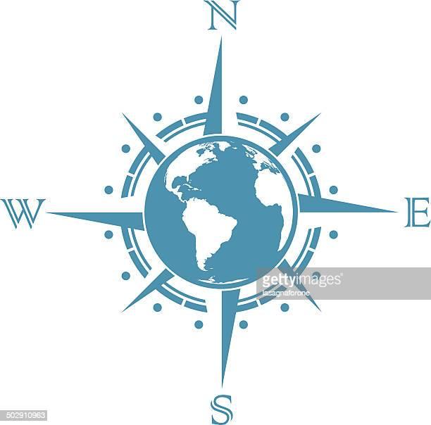 世界の「コンパスローズ」 - 円形方位図点のイラスト素材/クリップアート素材/マンガ素材/アイコン素材