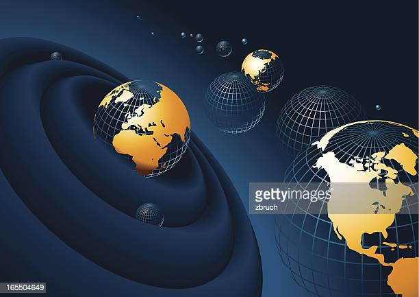 globe composition - physical geography stock illustrations, clip art, cartoons, & icons