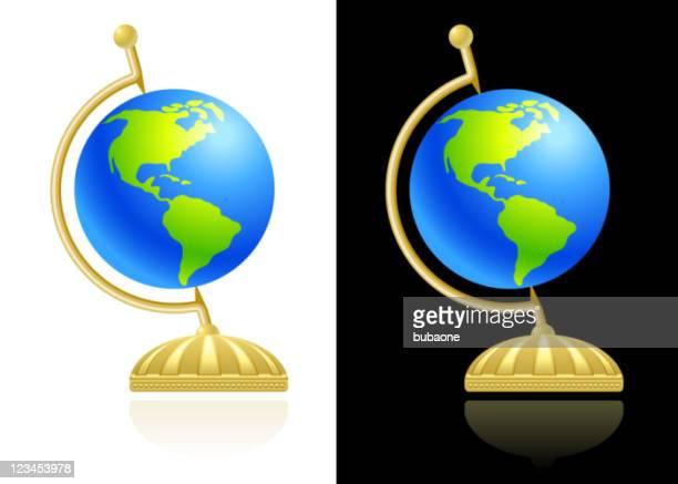 globe design auf schwarzen und weißen Hintergrund.