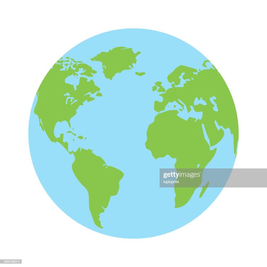 Globe earth icon vector