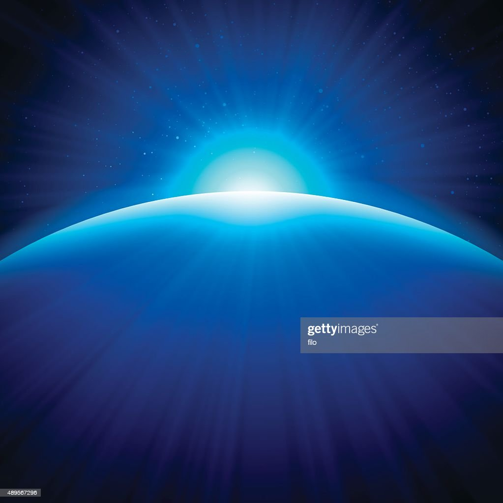 Globe Edge Sunrise Background : stock illustration