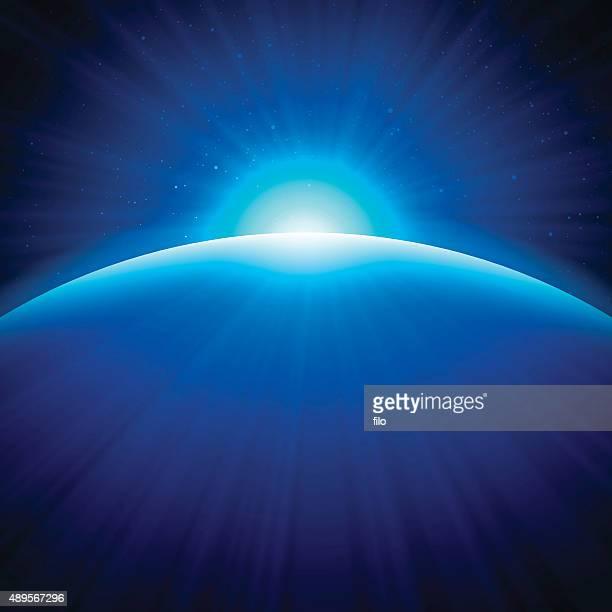 Globe Edge Sunrise Background