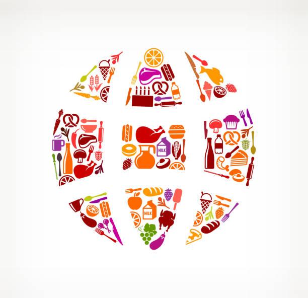 Globe Food & Drink Royalty Free Vector Arts Wall Art