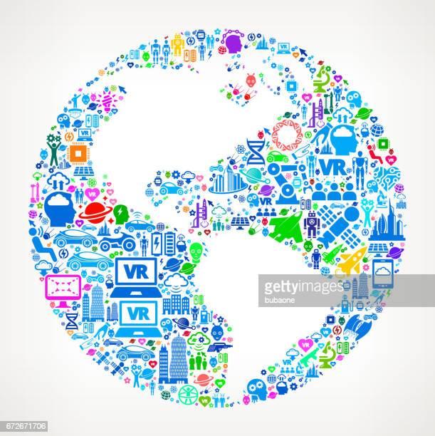 Globe  Future and Futuristic Technology Vector Icon Background