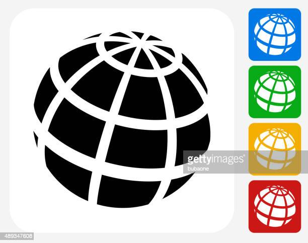Globe Icon Flat Graphic Design