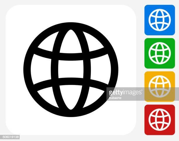 世界のグラフィックデザインアイコンフラット - ワールド・ワイド・ウェブ点のイラスト素材/クリップアート素材/マンガ素材/アイコン素材